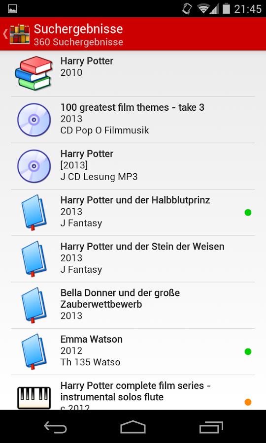 Web Opac: 800+ Bibliotheken - screenshot