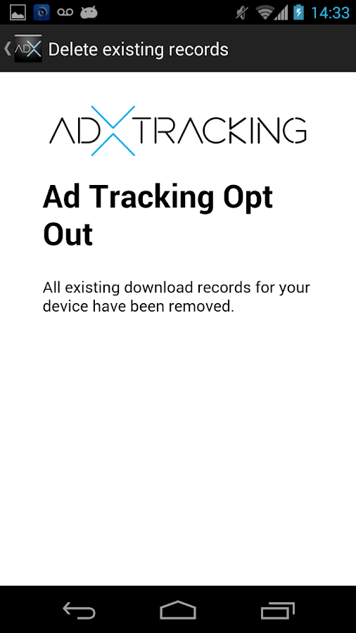 Ad-X Tracking Opt Out- screenshot