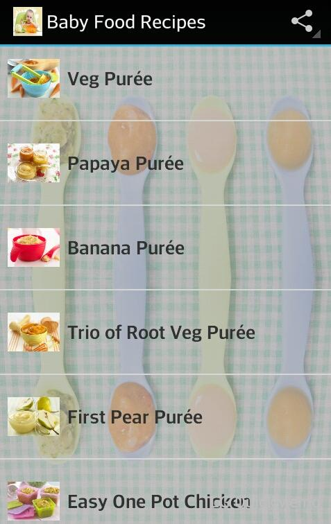 Baby Food Recipes Android Apps on Google Play