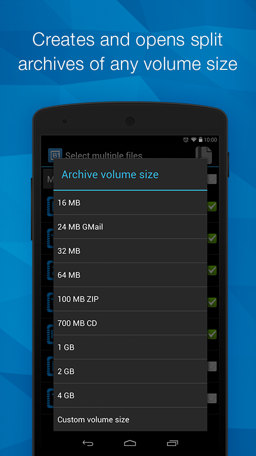 B1 Archiver zip rar unzip - screenshot