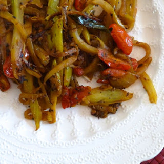 Spiced Fennel and Cabbage with Tomato and Curry Leaves.