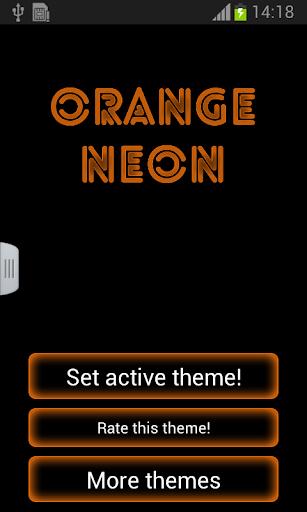 橙色霓虹燈GO輸入法