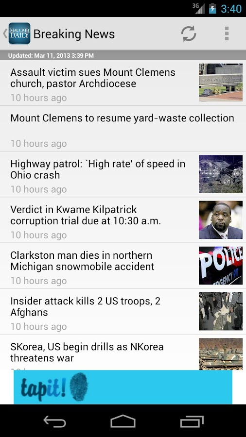 Macomb Daily - screenshot