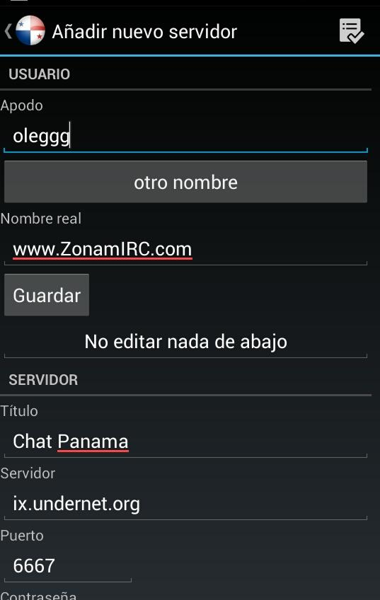 Chat Panama- screenshot