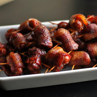 Spicy Brown Sugar Bacon Wrapped Smokies