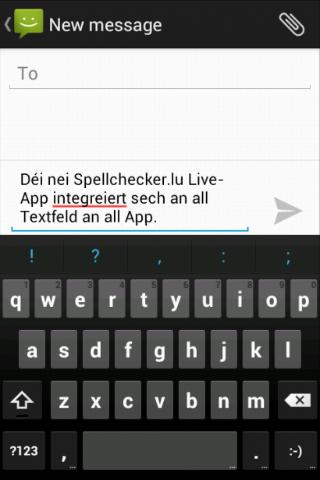 Spellchecker.lu Live - screenshot