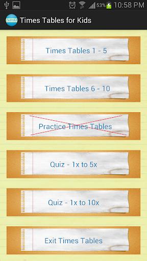 玩免費解謎APP|下載Times Tables Quiz for Kids app不用錢|硬是要APP
