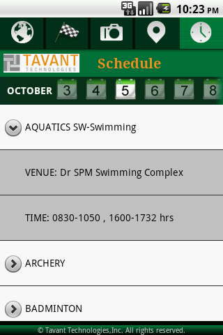 Tavant CWG App - screenshot