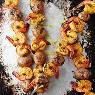 Curried Shrimp & Potato Kebabs