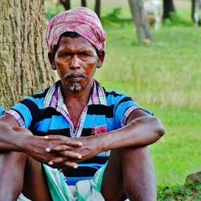 Loneliness by Projit Roy Chowdhury - People Portraits of Men