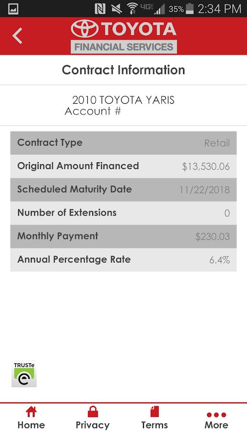 myTFS - Toyota Financial - screenshot