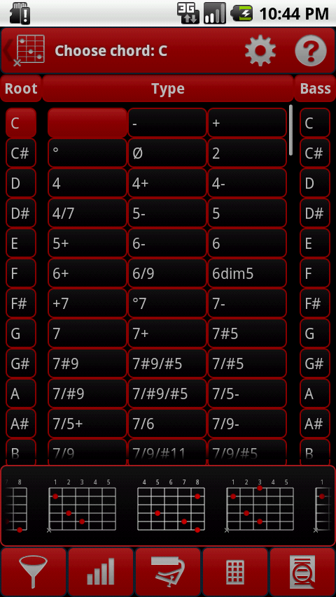 smartChord Tuner (Guitar, ..)- screenshot