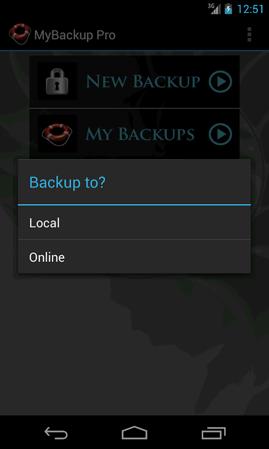 My Backup Root - screenshot