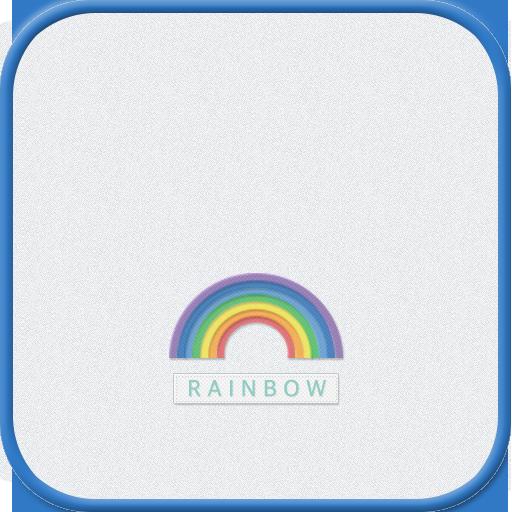 Rainbow GO launcher theme LOGO-APP點子