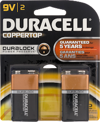 Duracell 9V Batteries (Twin Pack)