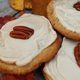 Frosted Pecan Butter Cookies