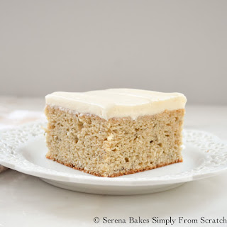 Banana Cake With Cream Cheese Frosting.