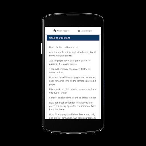 無料书籍Appのビリヤニのレシピオールレシピ 記事Game