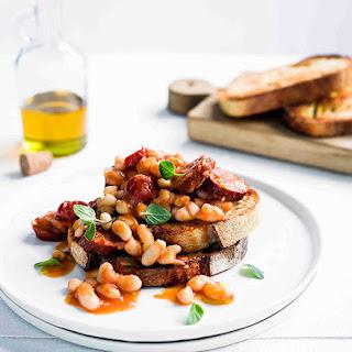 Beans And Chorizo On Toast