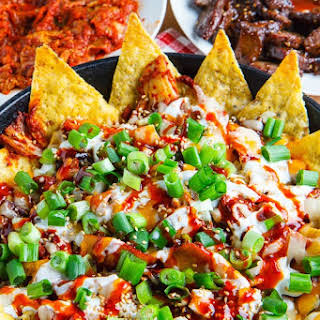 Korean Bulgogi and Kimchi Nachos.