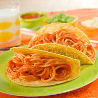 Ragu Spaghetti Tacos.
