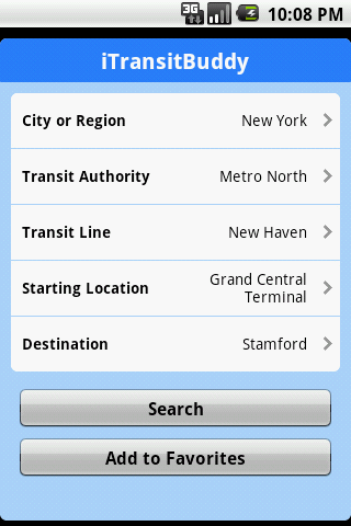 iTransitBuddy Metro North Lite - screenshot