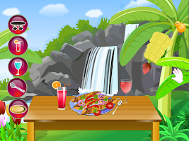 Screenshot of chicken kebab cooking games