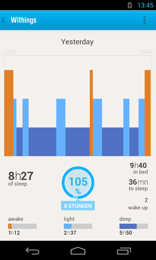 Withings Health Mate - screenshot