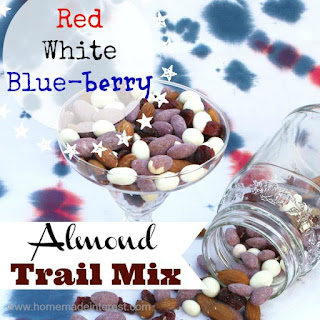 Red, White and Blueberry Almond Trail Mix