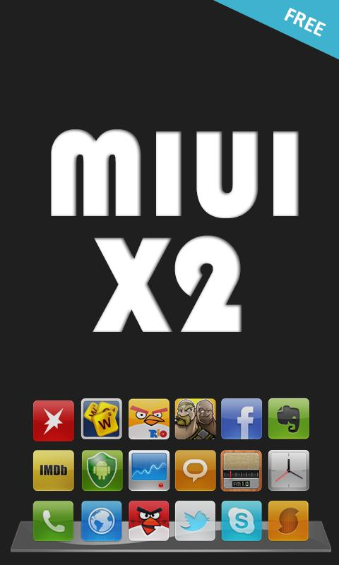 MIUI X2 Go/Apex/ADW Theme FREE- screenshot