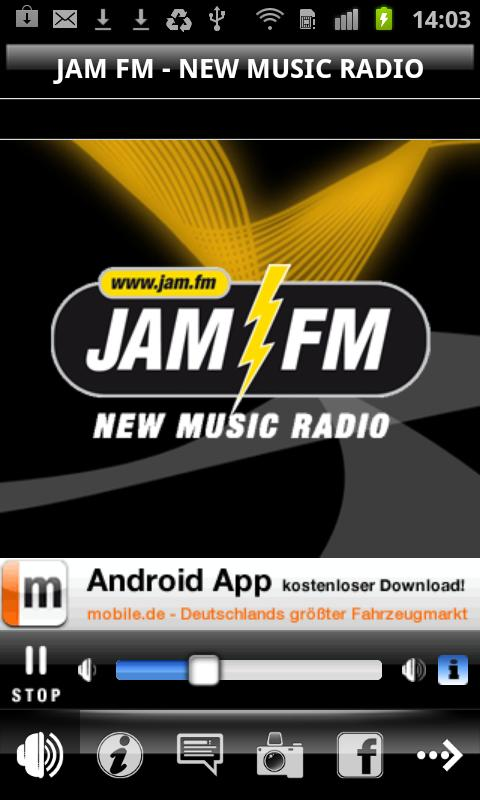 JAM FM New Music Radio - screenshot