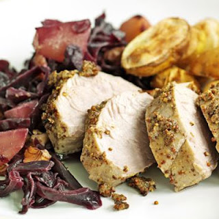 Pork with Braised Red Cabbage & Pears Recipe