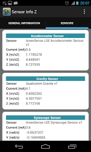 Sensor Info Z - screenshot thumbnail