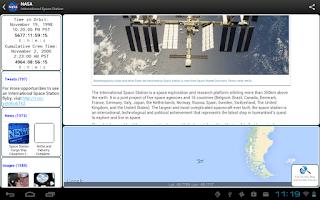Screenshot of NASA App