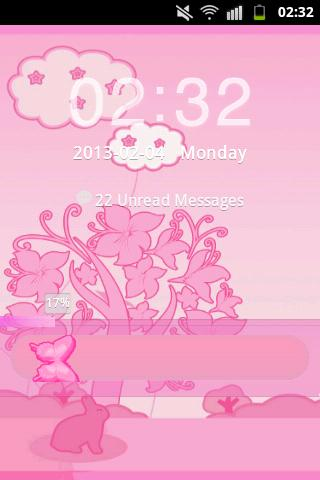 GO Locker Theme Pink Rabbit- screenshot