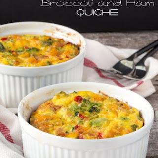 Broccoli and Ham Quiche (no crust).