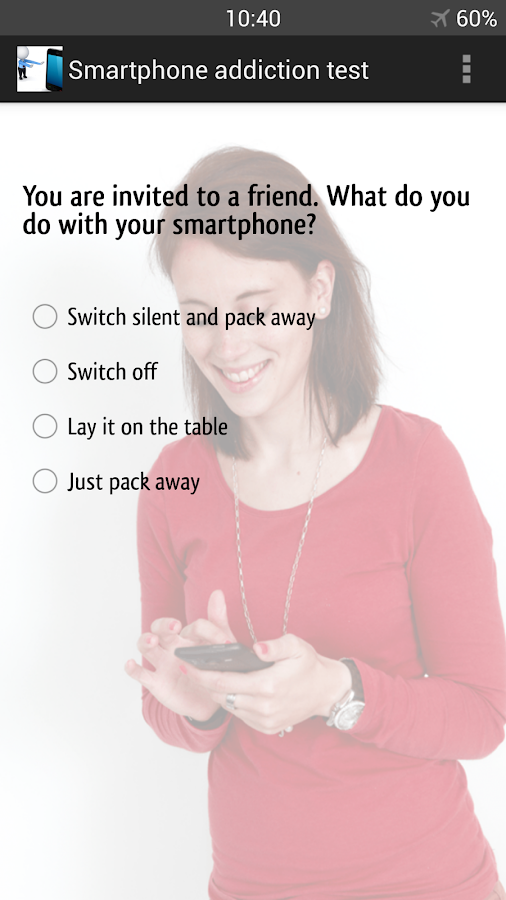 Are you a smartphone addict? - screenshot