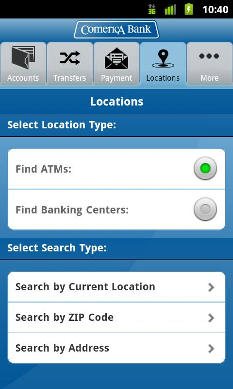 Comerica Mobile Banking® - screenshot