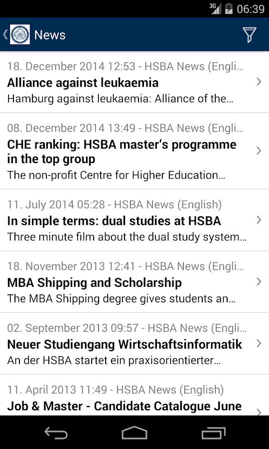HSBA Mobile- screenshot