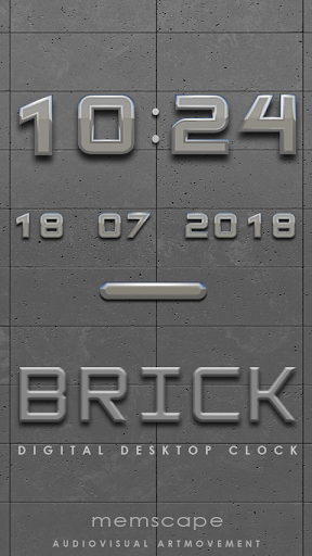 BRICK Digital Clock Widget