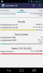 Call Meter 3G: DIE Monitor App – Miniaturansicht des Screenshots