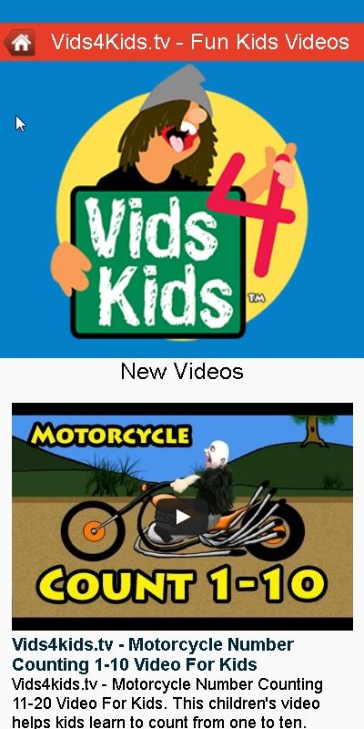 Vids4Kids.tv - Fun Kids Vids- screenshot