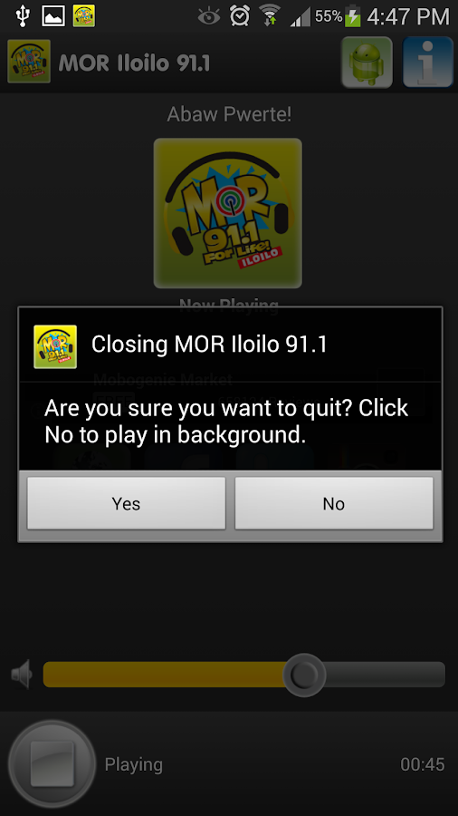 MOR Iloilo 91.1 MHz - screenshot