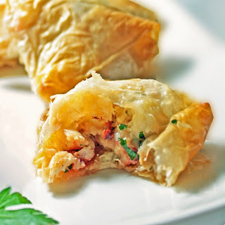 Lobster & Shitake Phyllo Triangles.