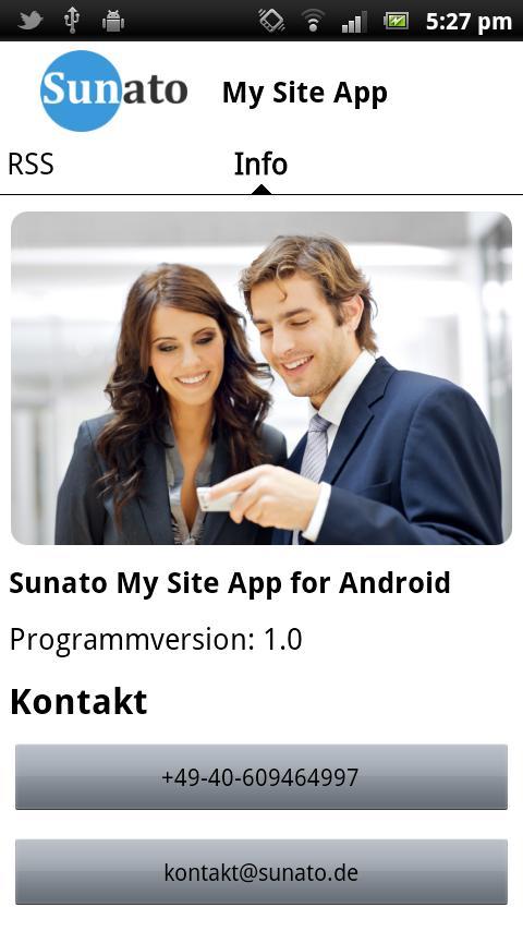 My Site App- screenshot