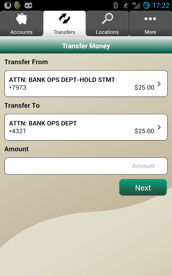 EVB Mobile Banking- screenshot