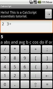 Calcscript- screenshot thumbnail