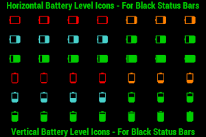 Screenshot of BN Pro Battery Level Icons