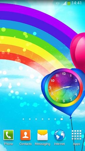 彩虹 時鐘 小工具