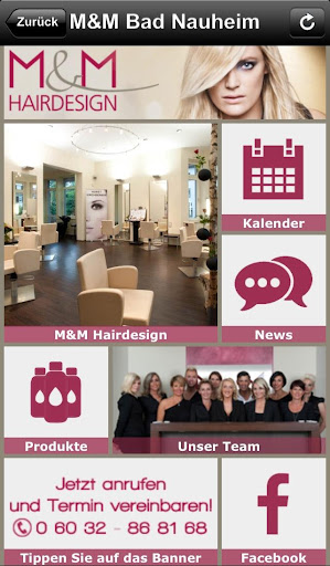 Die M M Hairdesign App